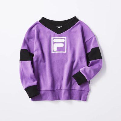 ライトオン「VネックビッグシルエットロングTシャツ」紫
