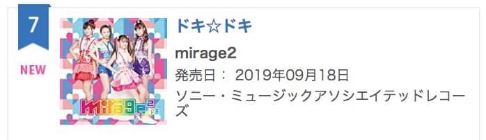 mirage2「ドキ☆ドキ」オリコンランキング